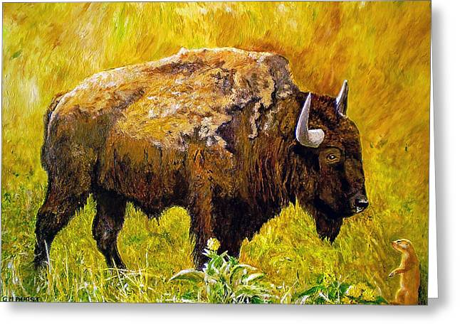 Prairie Companions Greeting Card by Michael Durst