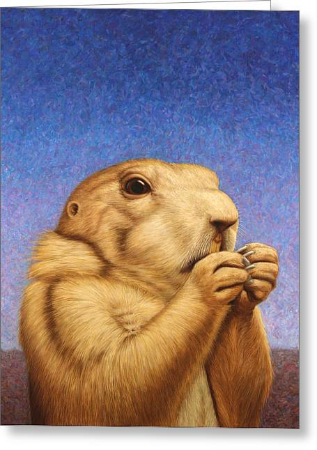 Greeting Card featuring the painting Prairie Dog by James W Johnson