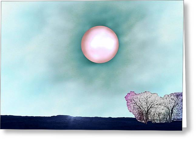 Prairie Moon Greeting Card by Aliceann Carlton