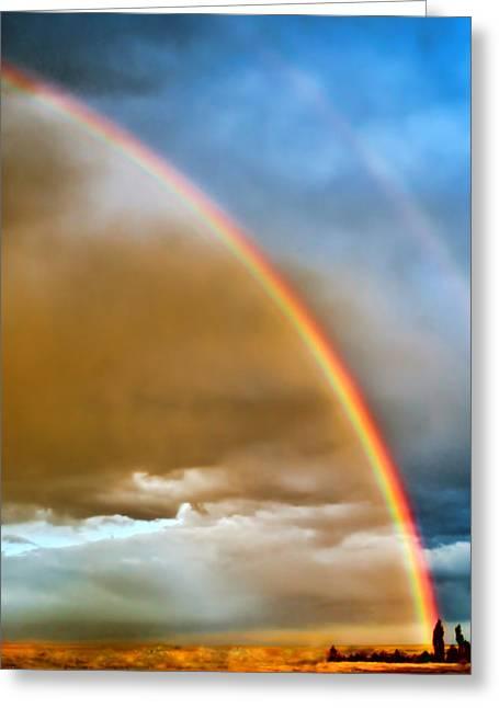 Prairie Rainbow Greeting Card by Ellen Heaverlo