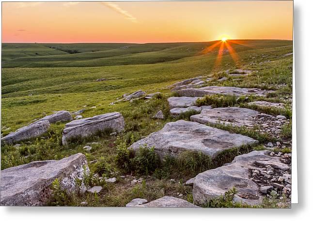 Greeting Card featuring the photograph Prairie Rocks by Scott Bean