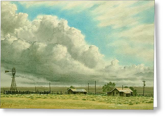 Prairie Sky Greeting Card by Paul Krapf
