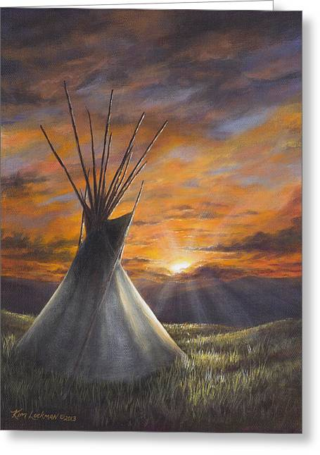 Prairie Sunset Greeting Card
