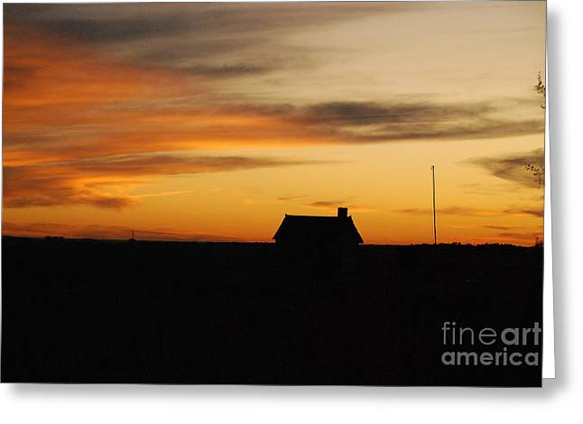 Greeting Card featuring the photograph Prairie Sunset by Mary Carol Story