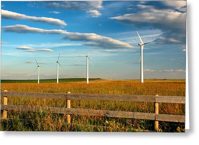 Greeting Card featuring the photograph Prairie Wind 1 by Trever Miller