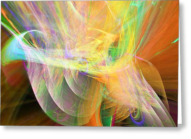 Greeting Card featuring the digital art Praise by Margie Chapman