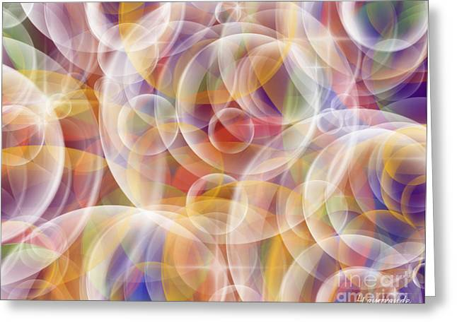 Prana Bubbles  Greeting Card by Louise Lamirande