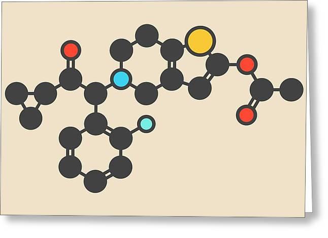 Prasugrel Platelet Inhibitor Molecule Greeting Card