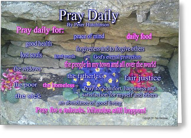 Pray Daily Greeting Card
