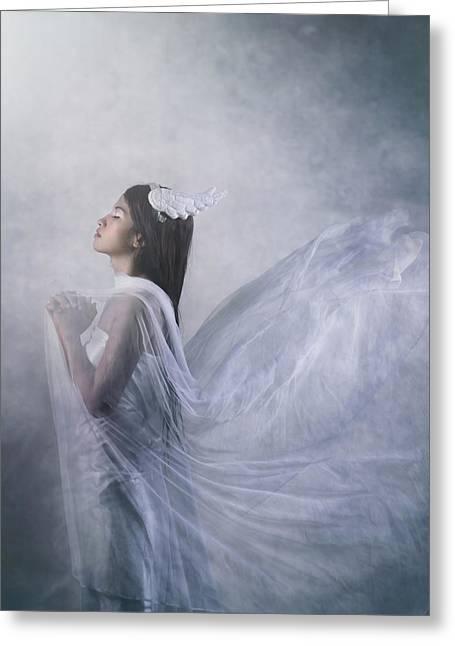 'pray Of Angel' Greeting Card