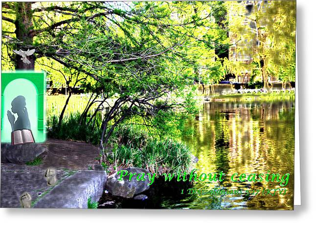 Pray Without Ceasing2 Greeting Card by Terry Wallace