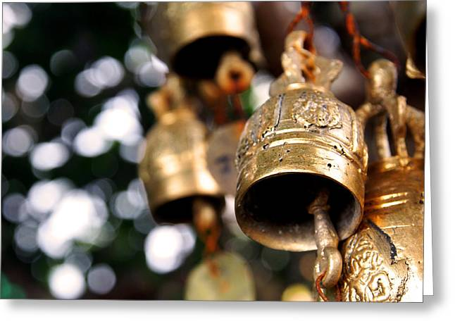 Prayer Bells Greeting Card by Justin Woodhouse