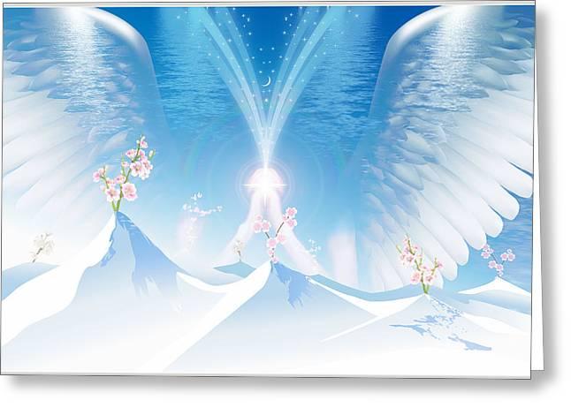Prayer Greeting Card by Harald Dastis