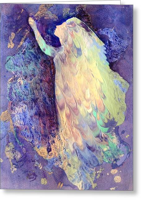 Prayer Greeting Card by Marilyn Jacobson