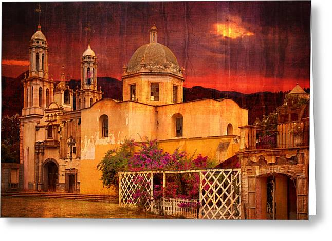 Prayers At Dusk Greeting Card