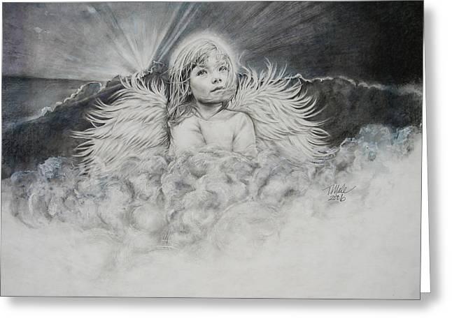 Prayers To An Angel Greeting Card