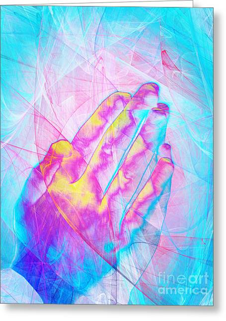 Praying Hands 20150302v1 Greeting Card by Wingsdomain Art and Photography
