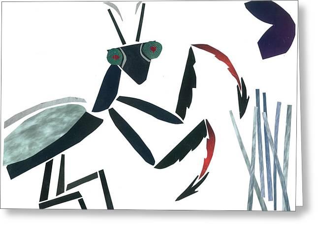Praying Mantis Greeting Card by Earl ContehMorgan