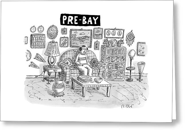 Pre-bay -- A Man Sits In Living Room Full Greeting Card