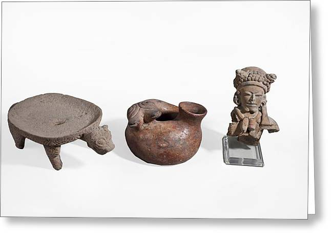 Pre Columbian Zoomorphic Greeting Card by Science Photo Library