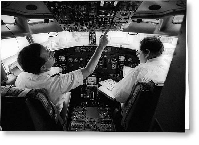 Pre-flight Check Greeting Card by Jim West