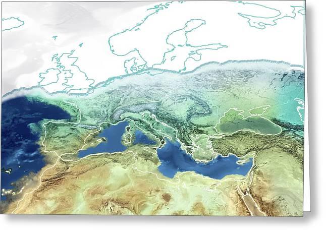 Pre-zanclean Flood Mediterranean Greeting Card