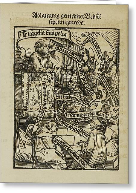 Preacher From 'beschwerung Der Alten' Greeting Card by British Library