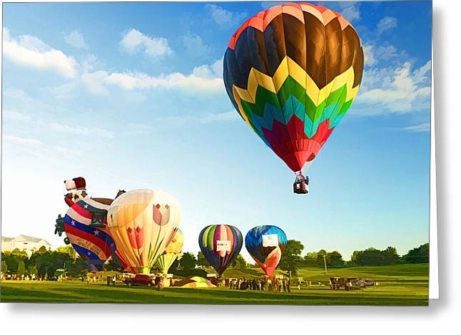 Preakness Balloon Festival Greeting Card