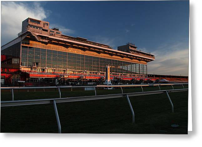 Preakness Morning At Pimlico Greeting Card by Michael French