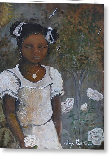 Precious Greeting Card by Sonja Griffin Evans
