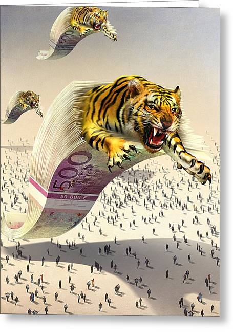 Predatory Financial Institutions, Greeting Card by Science Photo Library