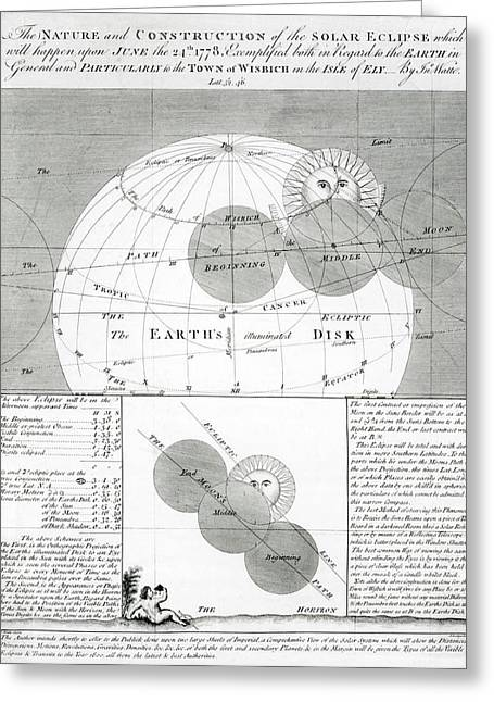 Predicted Solar Eclipse Of 1778 Greeting Card