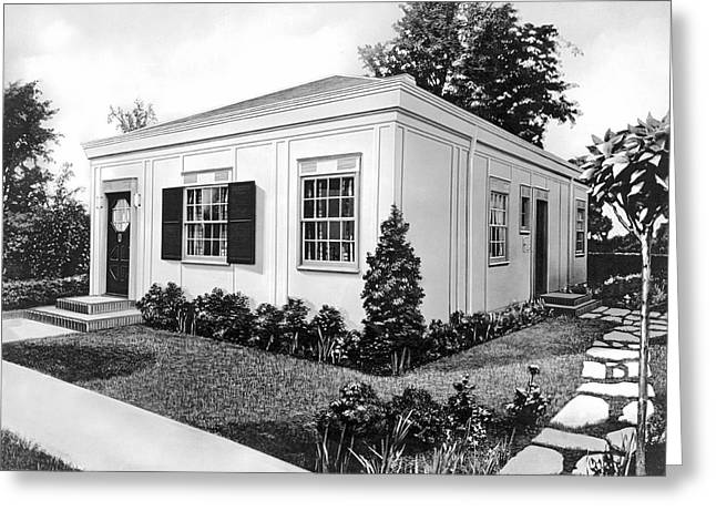 Prefab Home In 1936 Greeting Card