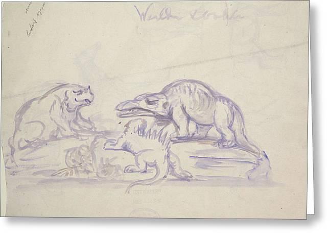 Prehistoric Animals Greeting Card