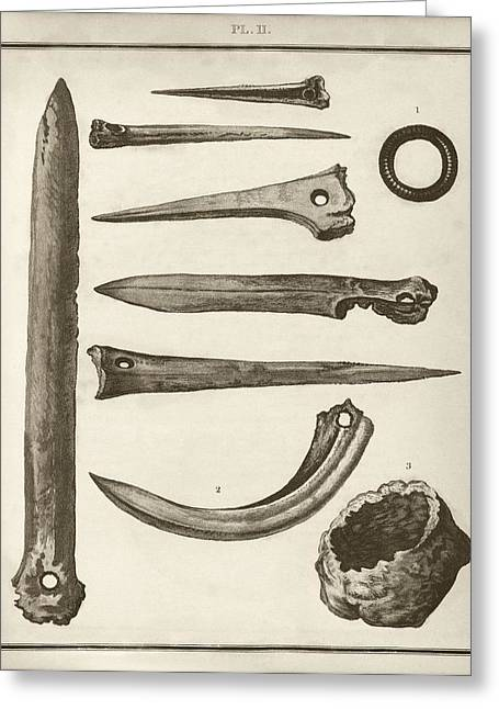Prehistoric Artefacts Greeting Card by Middle Temple Library