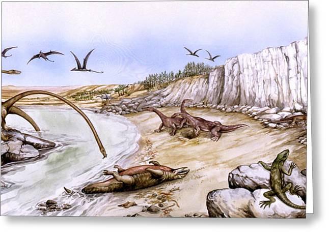 Prehistoric Landscape Greeting Card