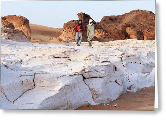 Prehistoric Saharan Lake Deposits Greeting Card