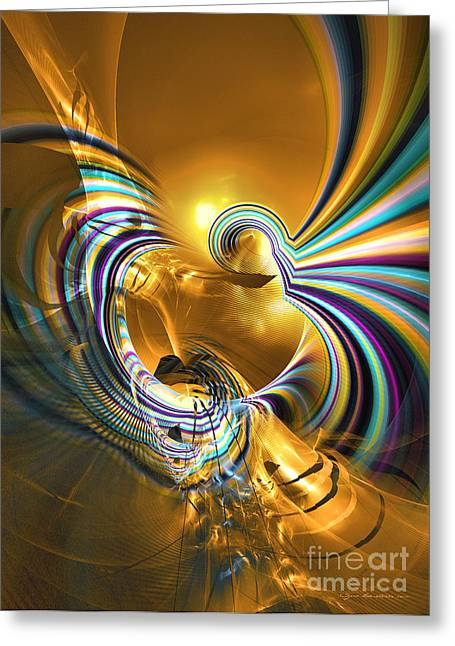 Prelude Of Colors - Surrealism Greeting Card