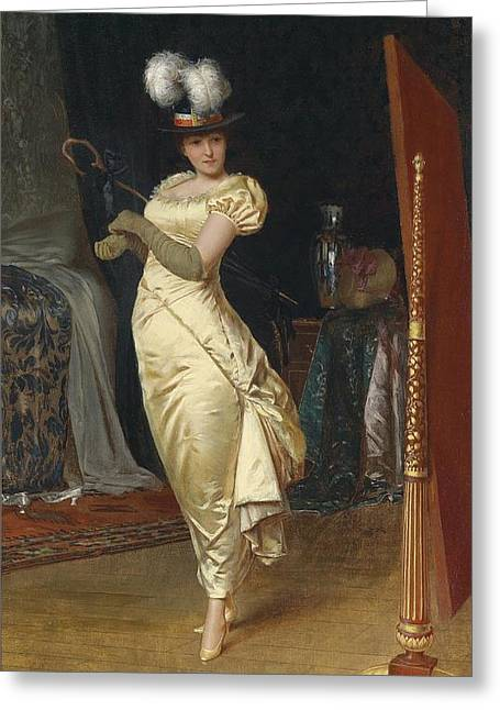 Preparing For The Ball Greeting Card by Frederick Soulacroix