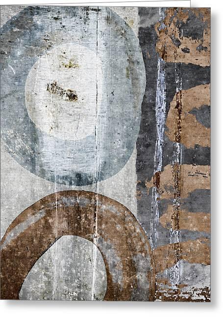 Silken Circles 1 Greeting Card by Carol Leigh