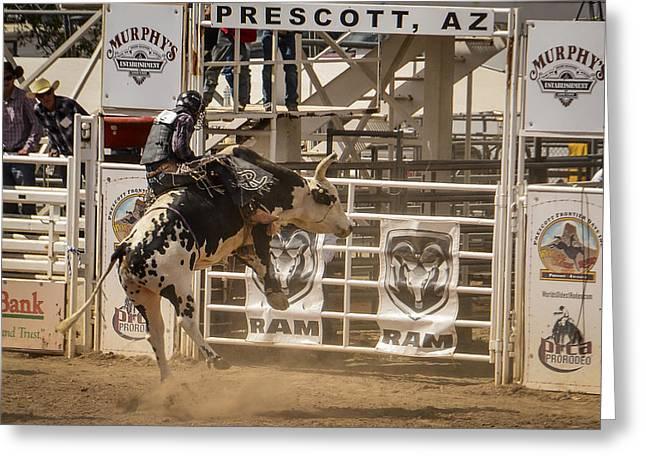 Prescott Az Rodeo Greeting Card by Jon Berghoff