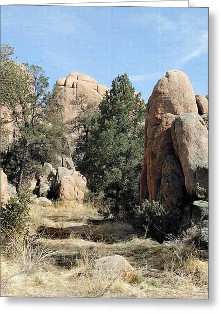 Prescott Boulders Greeting Card by Gordon Beck