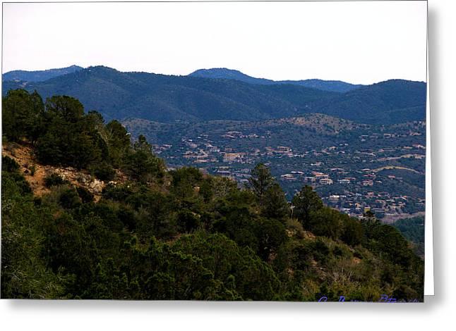 Prescott Mountainsides Greeting Card