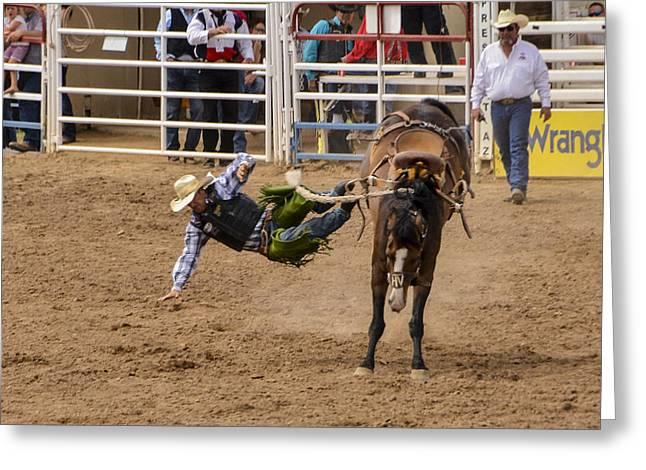 Prescott Rodeo 2014  Greeting Card by Jon Berghoff