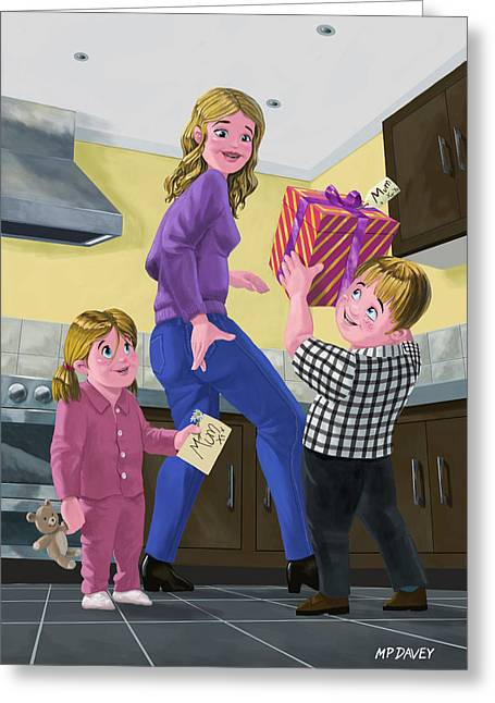 Present For Mother Greeting Card by Martin Davey