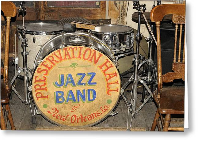 Preservation Hall Jazz Band Drum Greeting Card