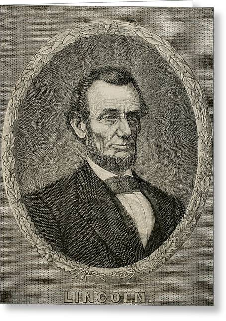 President Abraham Lincoln Greeting Card by American School