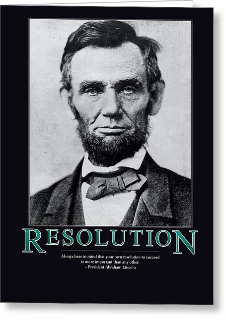 President Abraham Lincoln Resolution  Greeting Card by Retro Images Archive