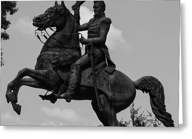 President Andrew Jackson Statue Greeting Card by Robert Hebert
