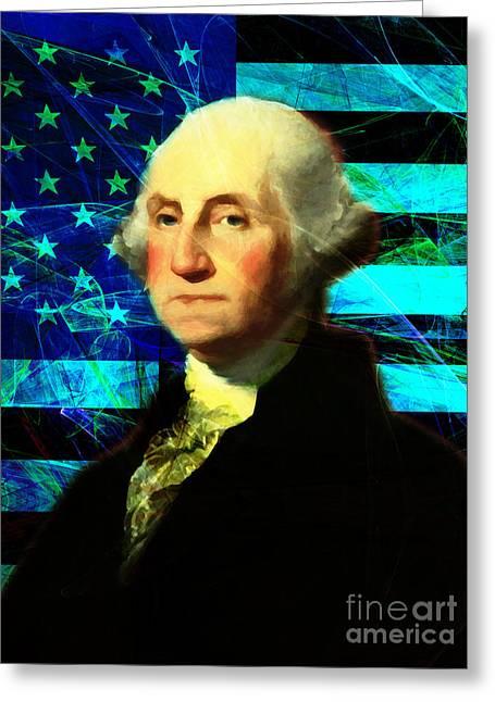 President George Washington V2 P138 Greeting Card